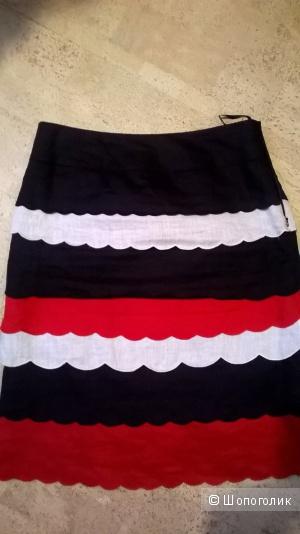 Льняная юбка Марк &Спенсер UK 10 44-46 размер