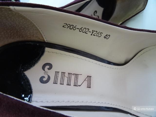 """Вечерние туфли """"Sinta"""", искусственная замша, размер 40, б/у"""
