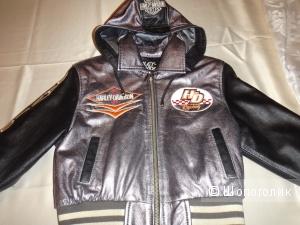 Куртка для мальчика кожаная  рост 98