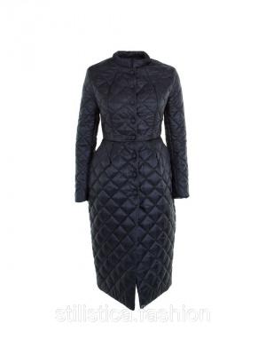 Длинное-экстравагантное стеганное пальто черного цвета IMPERIAL Италия в размере L(46-48)