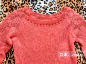 Коралловый свитер,размер 46