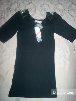 Черная футболка от Denim & Co р 42-44.