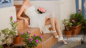 Платье свадебное или на девичник  44 размер