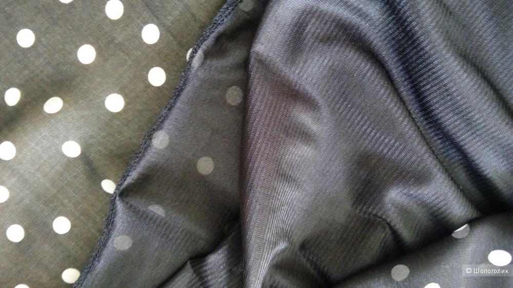 Платье в горошек, размер 42-44, б/у