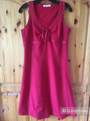Летнее ярко-красное платье MORE&MORE размер D38 (на росс.46)