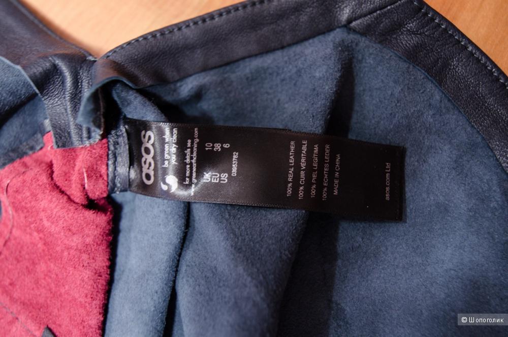 Новый топ из натуральной кожи ASOS Premium, размер 10 uk