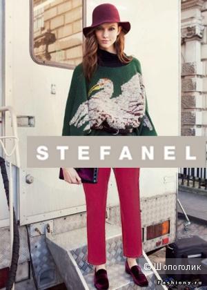 Вельветовые брюки (джинсы)-скинни Stefanel (42-44 размер)