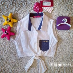 Хлопковая рубашка с завязками Sarah Chole (Италия). Размер 8-9 лет.
