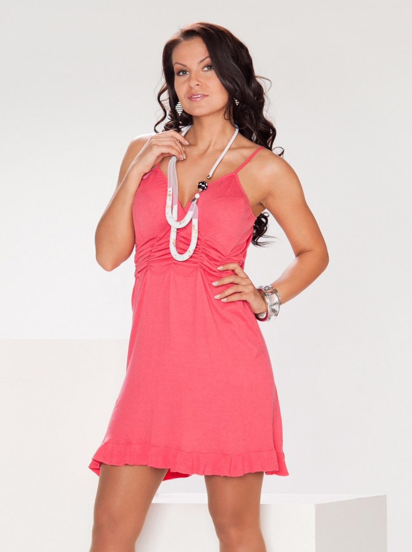 Коралловое платье La Reine Blanche, 44-46