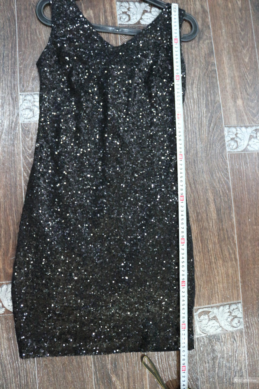 Платеье черное с паетками размер 46