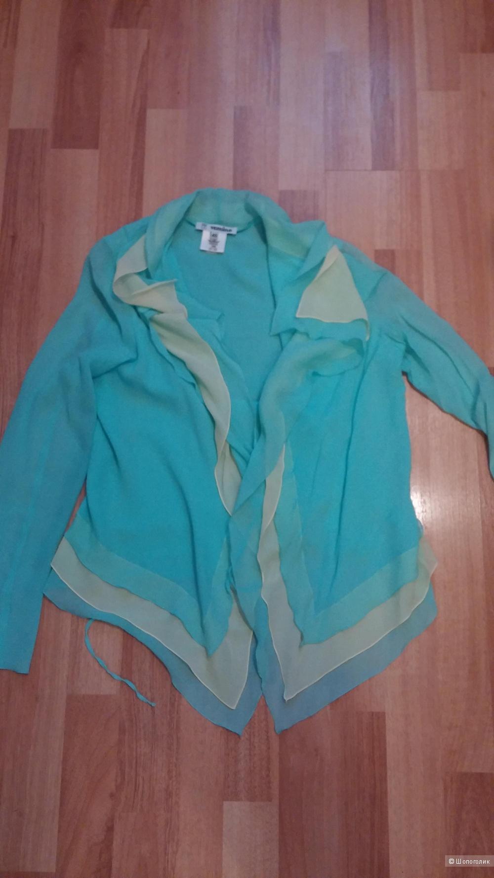 Шелковая блуза 40-42 размер