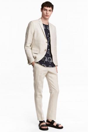 Новые брюки льняные H&M, размер 54