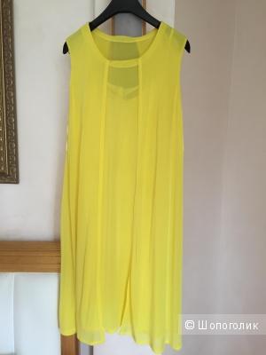 Желтое платье MaxMara, маркировка 42, рос. размер 44