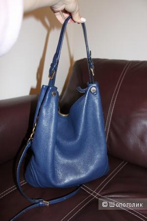Сумка синяя, Tosca Blu, натуральная кожа