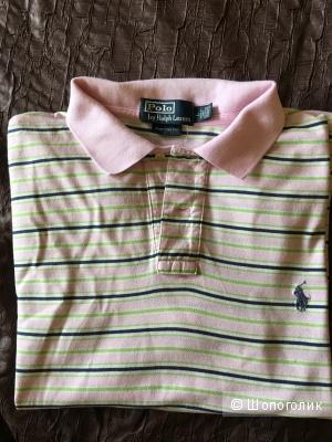 Розовое поло Ralph loran размер L