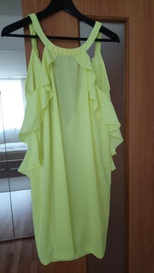 Яркое пляжное платье с воланами, р-р 42-44