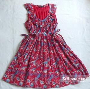 Красное платье с птицами French Connection р42-46