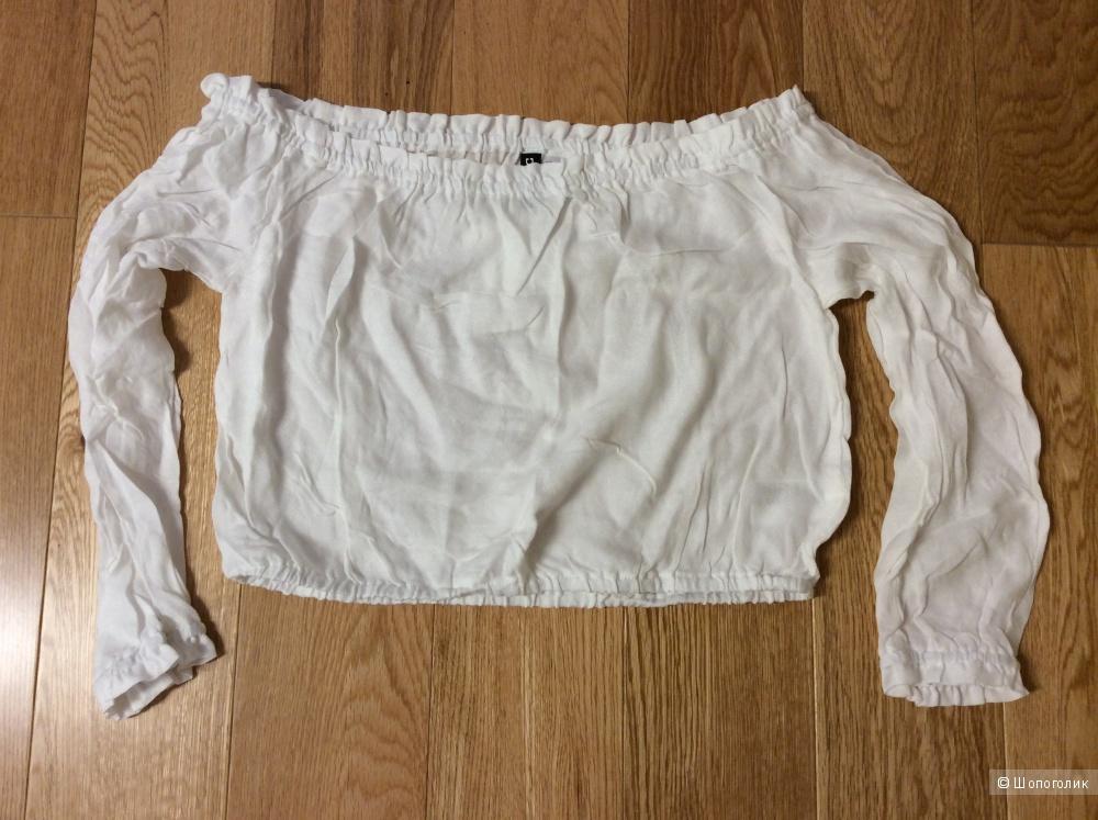 Укороченная блузка Н&М 100% вискозы р.40 (на 44-46)