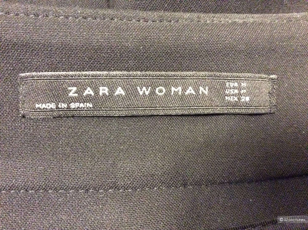 Черная юбка-карандаш ZARA р.М с оригинальной асимметричной имитацией запаха