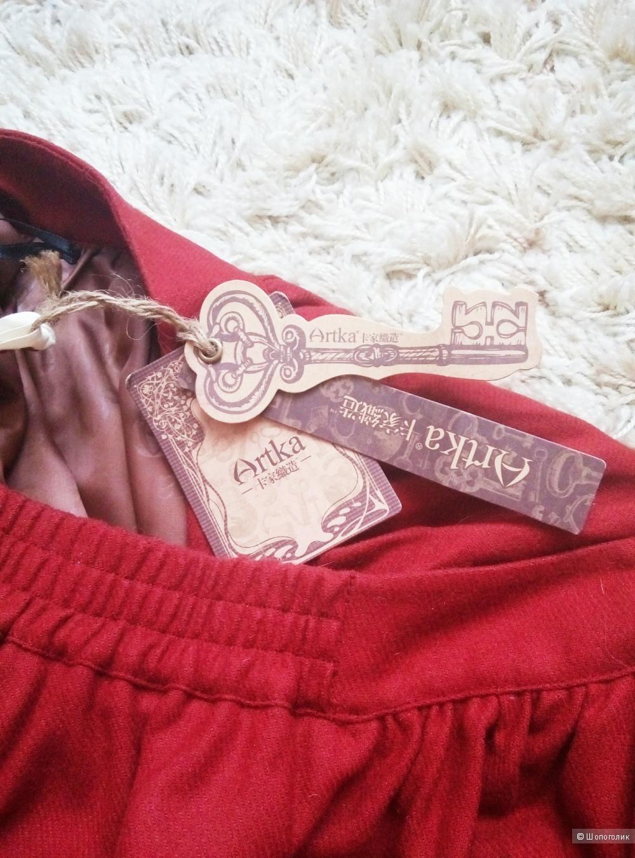 Шерстяная дизайнерская юбка ARTKA размер L