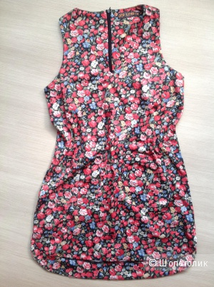 Цельнокройное платье с цветочным принтом QED-London, 42-44