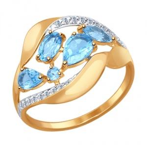 Золотое кольцо Sokolov размер 17 новые