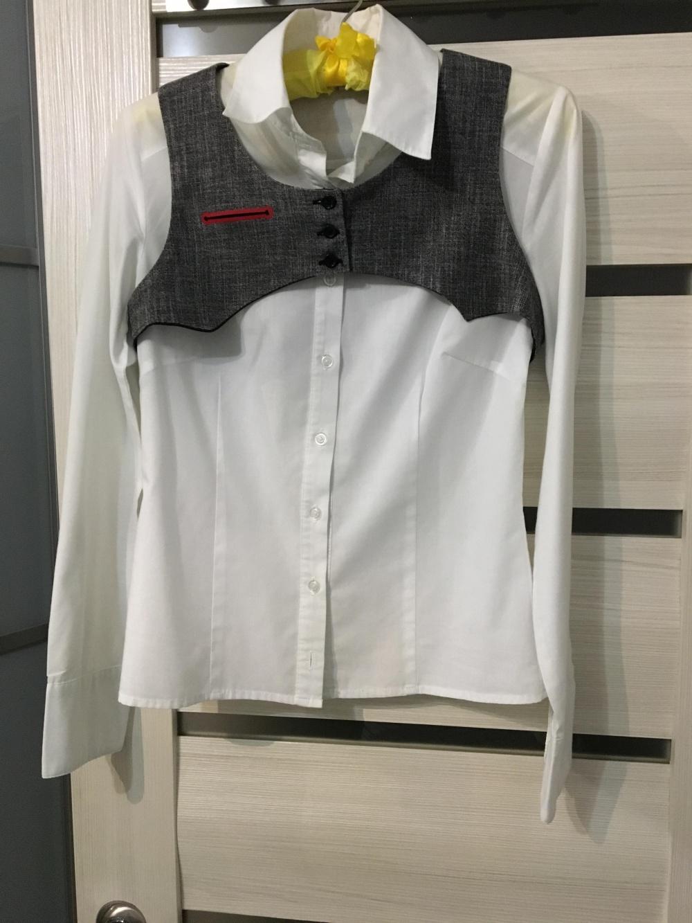 Рубашка с жилетом Clockhouse, размер 42