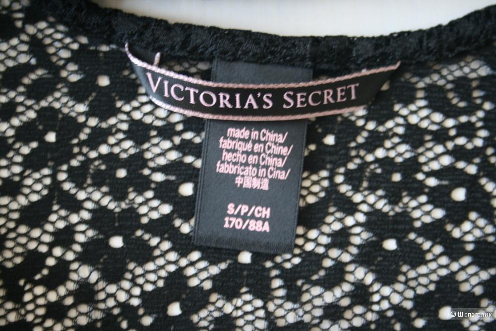 Кружевной черный топ Victoria's Secret разм.S