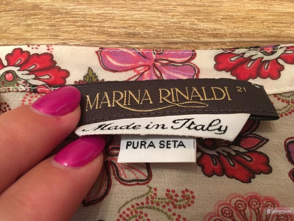 Marina Rinaldi туника 21 = 52-54 Чистый шелк Италия