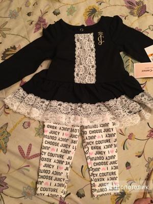 Комплект Juicy Couture (туника +леггинсы) на девочку 12 месяцев. Оригинал, куплен в Америке. Новый с бирками.