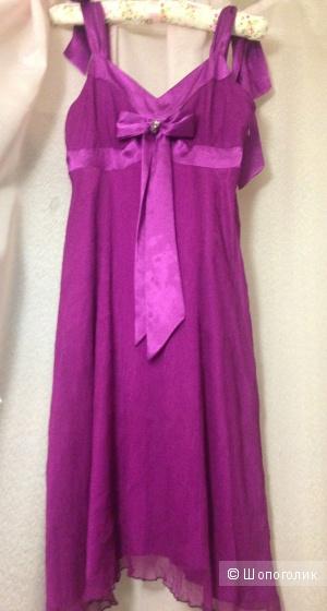 Платье-сарафан из шелка Exaltation (Франция) р-р 42 (36 евр)