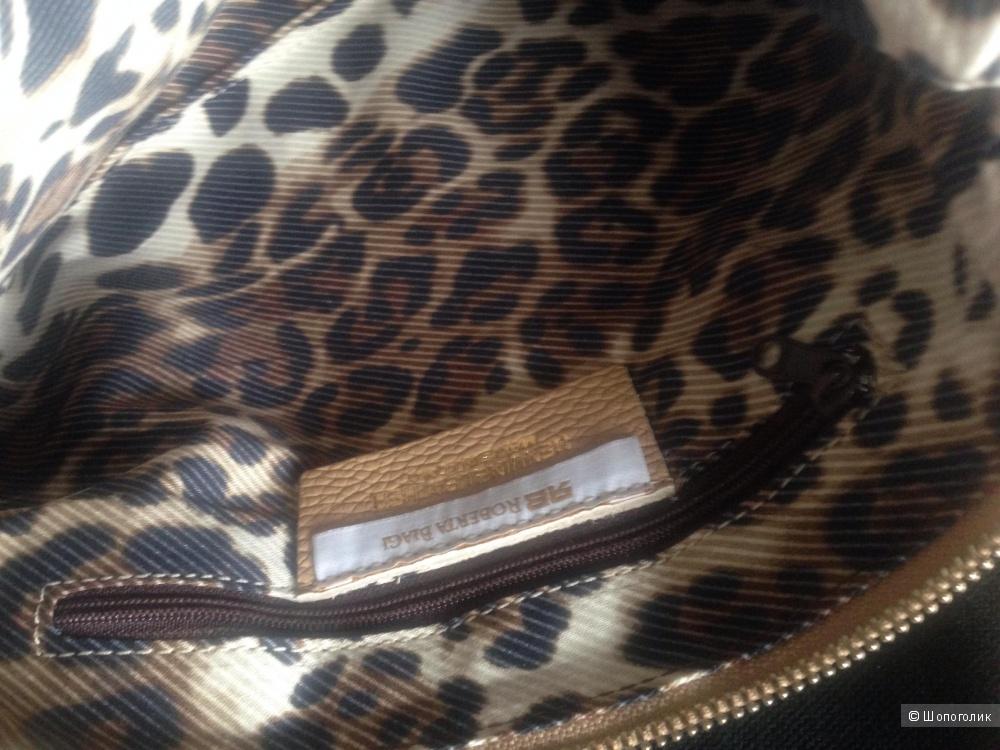 Новая кремовая кожаная  сумка клатч Roberta Biagi Италия