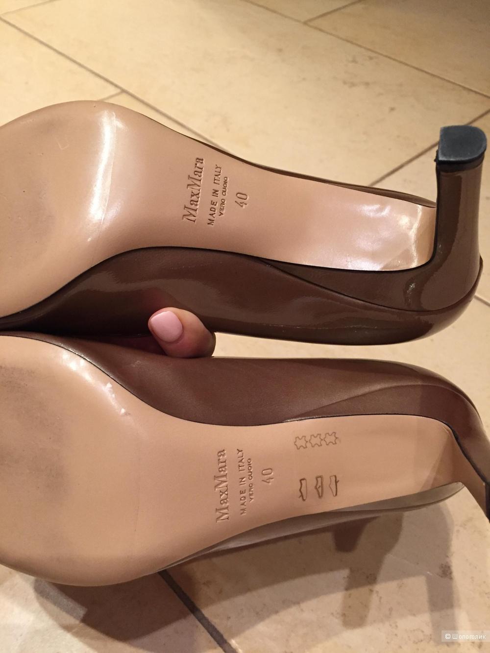 Новые лаковые туфли  MaxMara, 40 размер