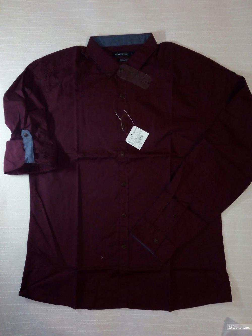 Рубашка мужская хлопковая, LCW Casual , XL (54 размер)