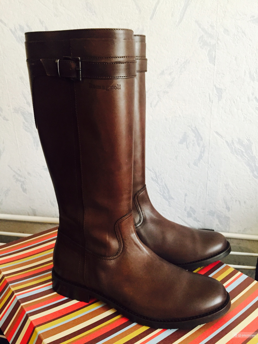 Romagnoli, кожаные сапоги, 38размер