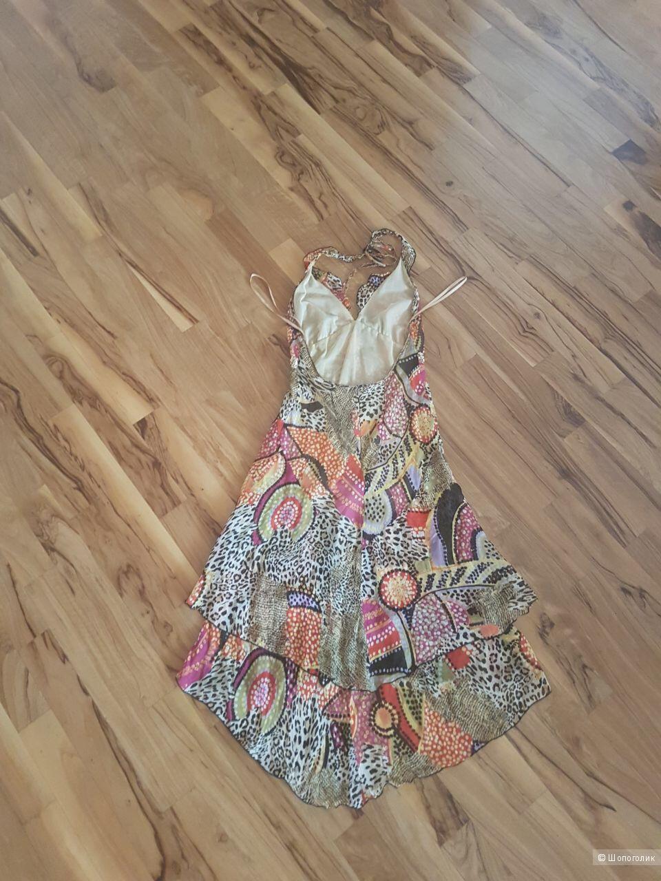 Шёлковое платье NafNaf размер 42