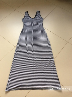 Летнее длинное платье Oodji из трикотажа в морском стиле р.L (на 44-48)