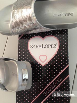 Новые кожаные босоножки пантолеты 38 Sara Lopez Италия