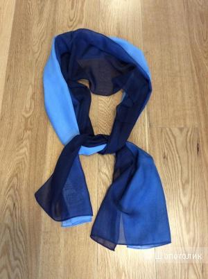 Шифоновый шарфик в сине-голубых тонах 50*150 см