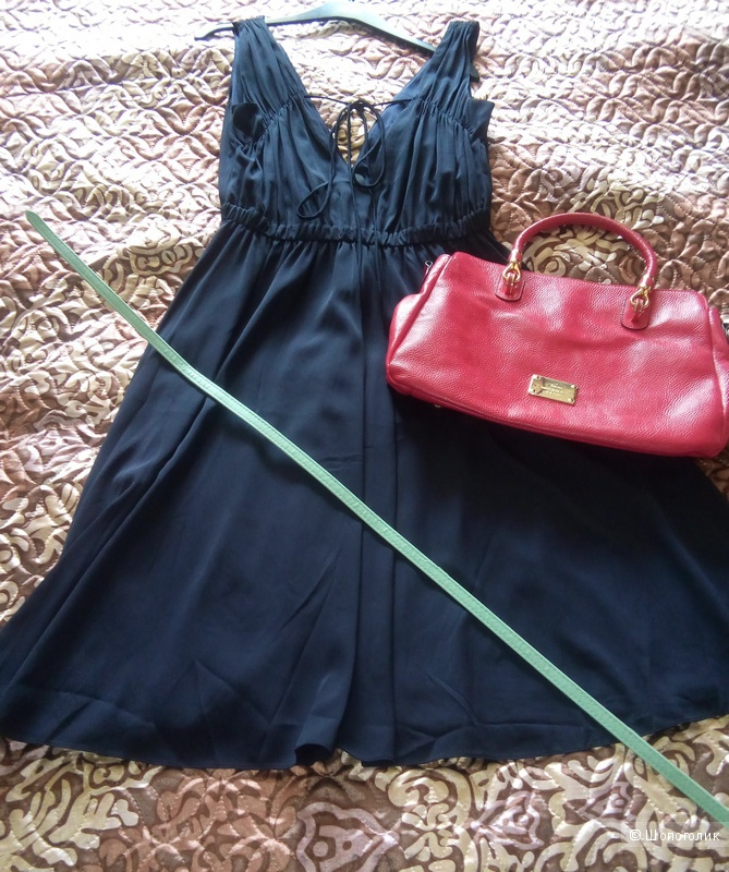 Шелковое платье PURE NAVY  44 русский размер.