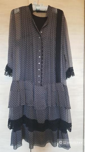 Платье премиум-класса из шелка Simona Barbieri TWIN-SET, размер 48(L)