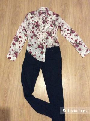 Шёлковая блуза Massimo Dutti  36 размер