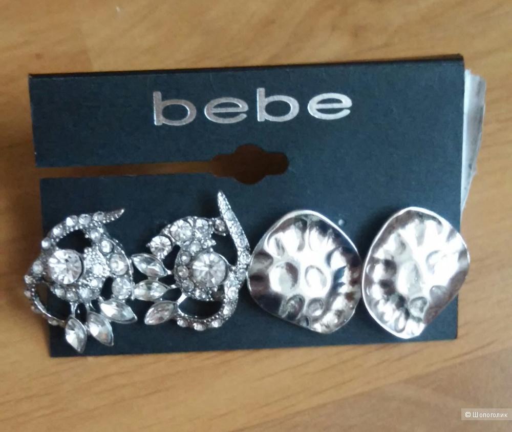 Новые серьги Bebe, 2 пары