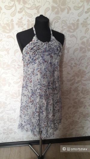 SARA: шелковое платье; легкое и воздушное, евро 40