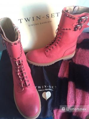 Twin-Set Simona Barbieri высокие ботинки 38 размер
