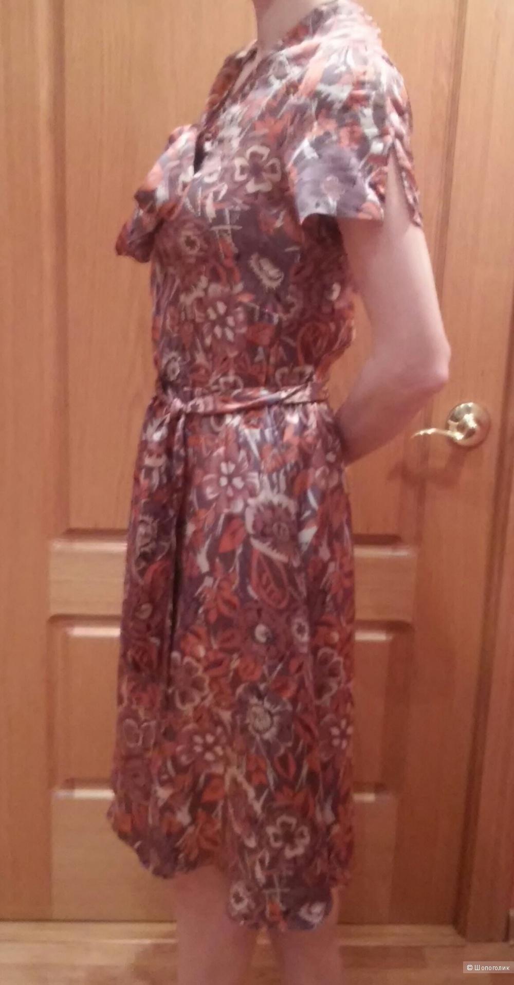 Шелковое платье, размер XS