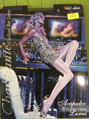 Колготки Charmante Cocktail Bar Lurex, новые, размер S/М, 40 ден, черные с золотом