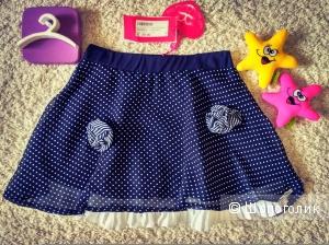 Шифоновая юбка на подкладе Sarah Chole (Италия). Размер 8-9 лет.