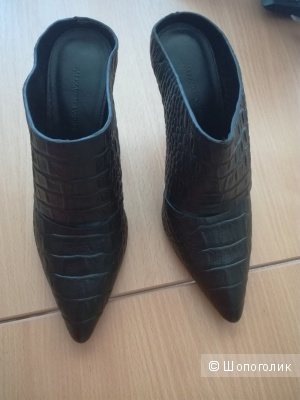 Сабо черные кожаные  Alexander Wang, 38 размер