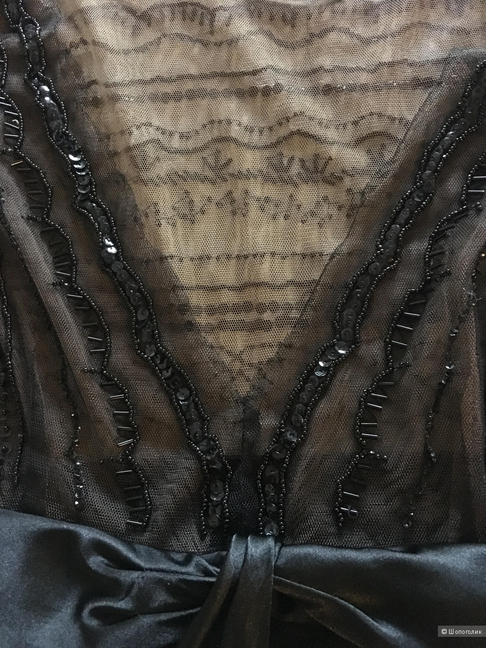 Платье чёрное вечернее BCBG Maxazria, размер 6 (S)